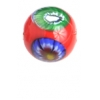 Glass Lamp Bead Round 10mm Red/Multi